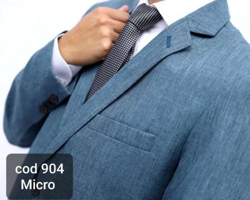 Terno Completo com BLAZER E CALÇA Azul Escovado em Microfibra