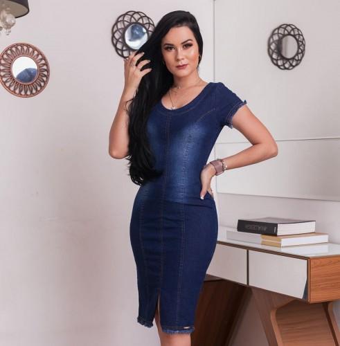 Vestido Jeans Macy Azul Escuro