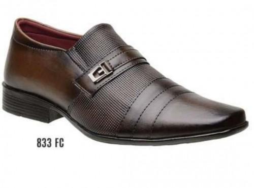 Sapato social sintético marron
