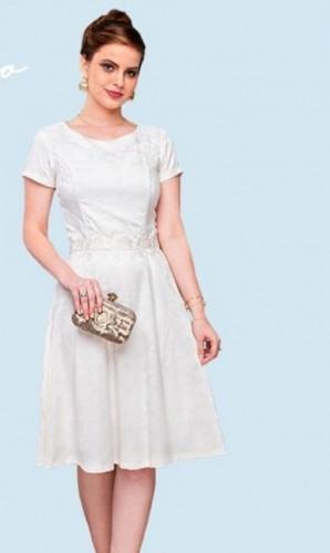 Vestido branco Mina Virtuosa